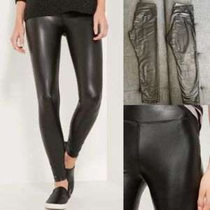 2 Pairs of Black Faux Leather Leggings